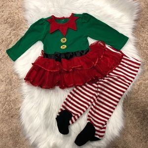 Adorable ELF tutu outfit, 6-9 months